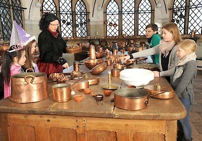 Historische Küche auf Schloss Marienburg