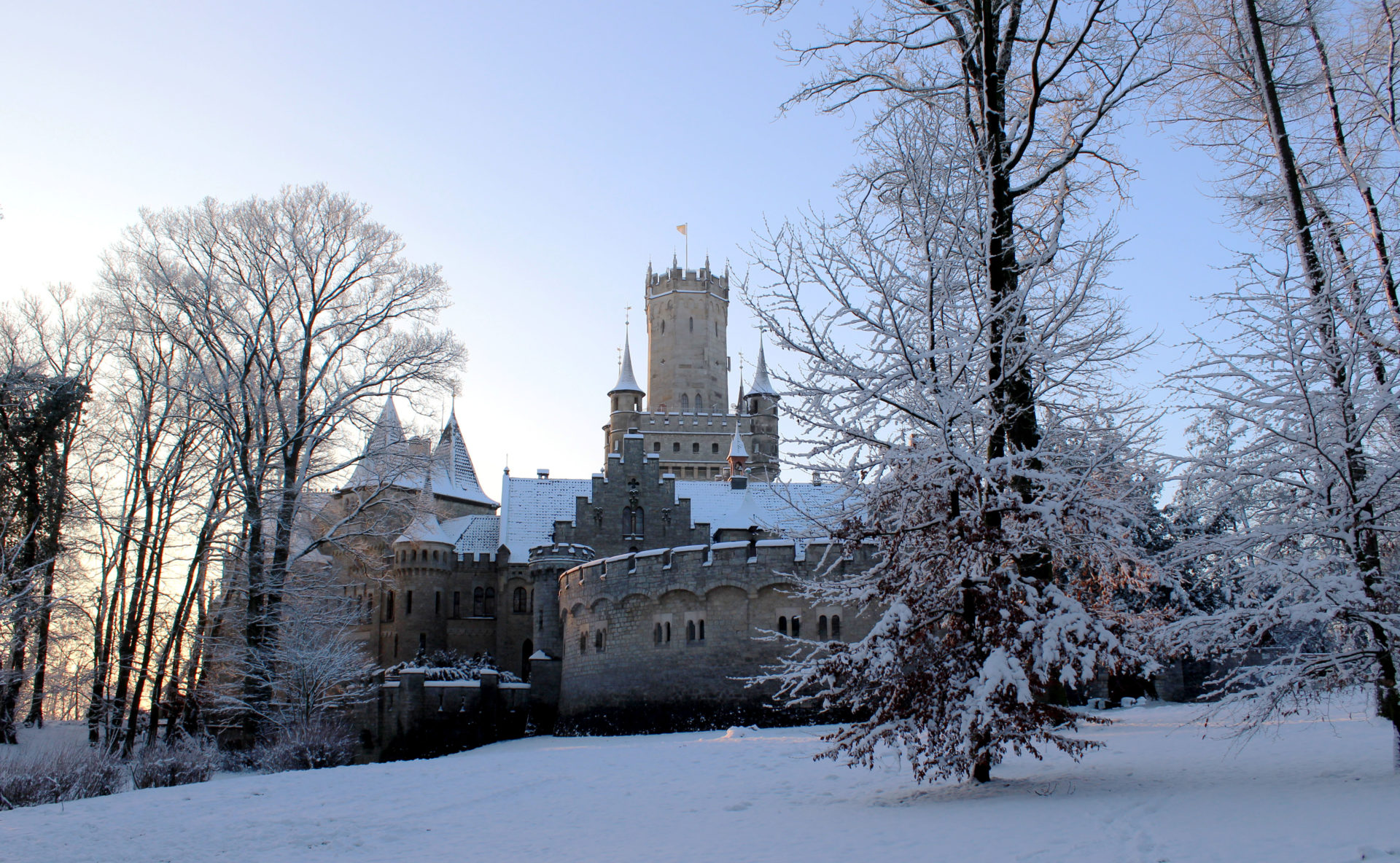 Winterimpressionen Schloss Marienburg