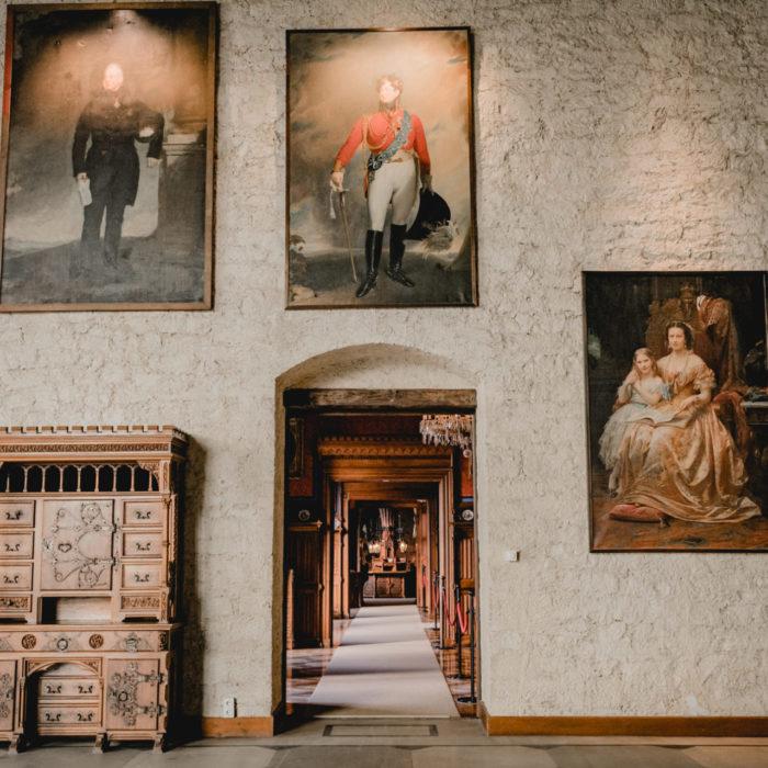 Wandgemälde im Schloss Marienburg