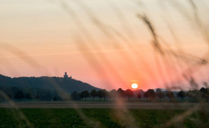 Schloss Marienburg Außenansicht - Sonnenuntergang