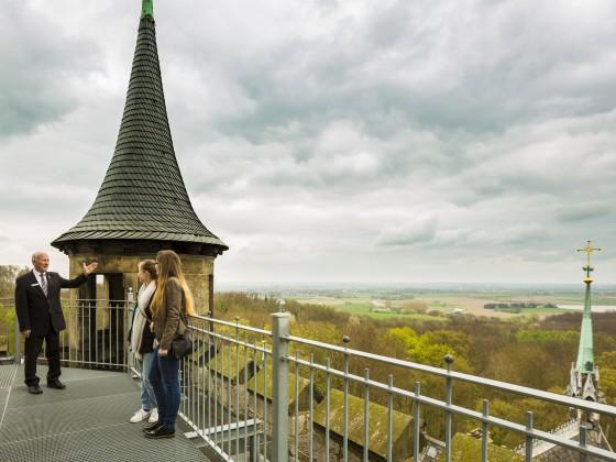 Schlossführung Aussicht vom Turm Schloss Marienburg