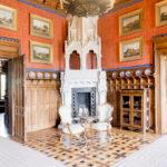 Innenansicht eines Saals im Schloss Marienburg